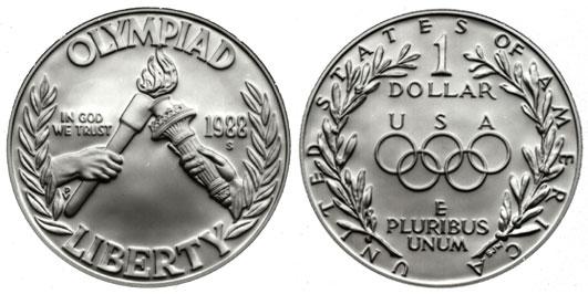 1988 Seoul Olympiad Silver Dollar