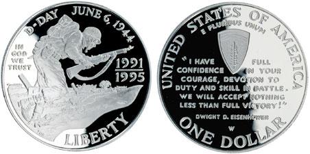 1993 Bill of Rights Silver Dollar
