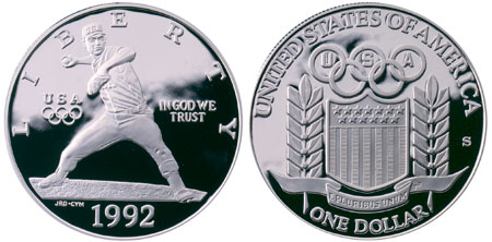1992 Olympic Silver Dollar