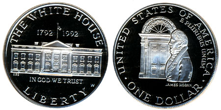 1992 White House Silver Dollar