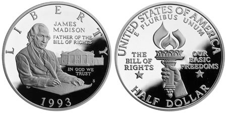 1993 Bill of Rights Half Dollar
