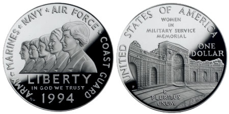 1994 Women in Military Service Memorial Silver Dollar