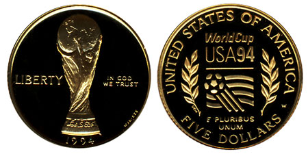 1994 World Cup $5 Gold Coin