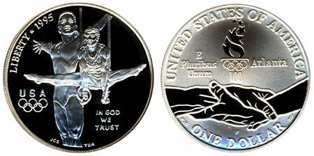1995 Olympic Gymnastics Silver Dollar