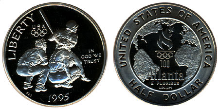 1995 Olympic Baseball Half Dollar