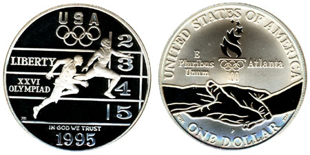 1995 Olympic Track and Field Silver Dollar