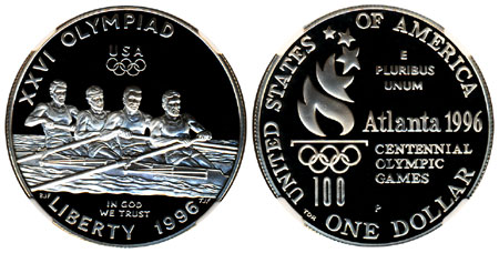 1996 Olympic Rowing Silver Dollar