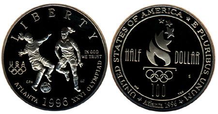 1996 Olympic Soccer Half Dollar