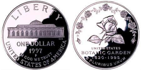 1997 Botanic Gardens Silver Dollar