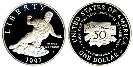 1997 Jackie Robinson Silver Dollar