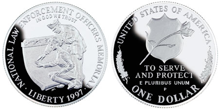 1997 Law Enforcement Silver Dollar