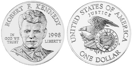 1998 Robert F. Kennedy Silver Dollar