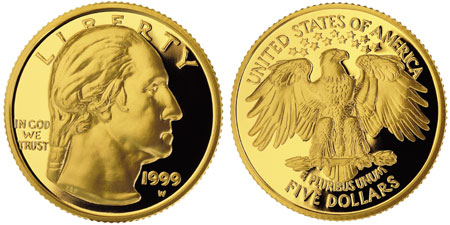 1999 George Washington 5 Gold