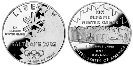 2002 Olympic Salt Lake Silver Dollar