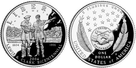 2004 Lewis & Clark Silver Dollar
