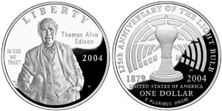 2004 Thomas Edison Silver Dollar