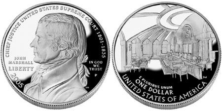 2005 John Marshall Silver Dollar