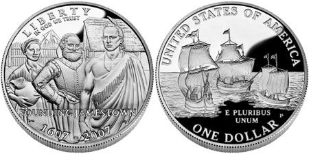 2007 Jamestown Silver Dollar