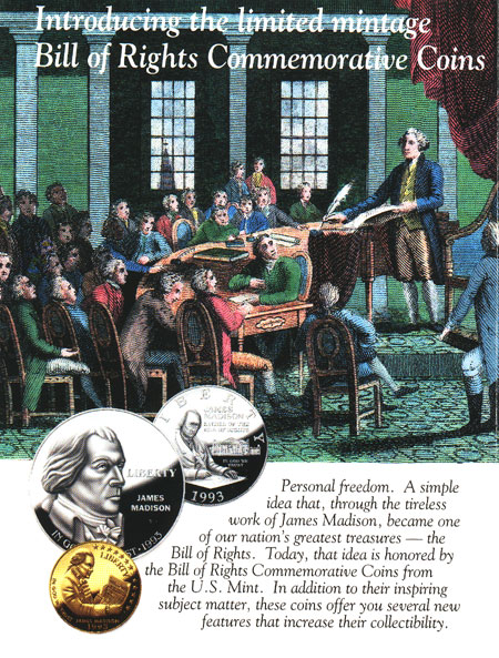 Bill of Rights Coins brochure