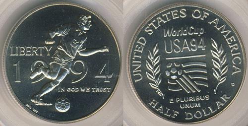 1994 World Cup Half Dollar
