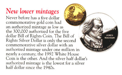 Bill of Rights Gold Coin Brochure