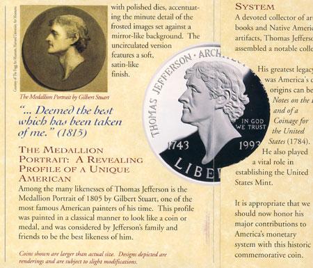 Gilbert Stuart Jefferson Medallion