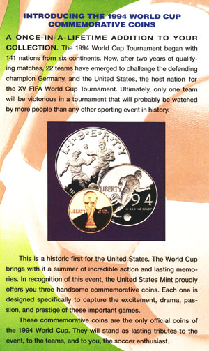 World Cup coins brochure