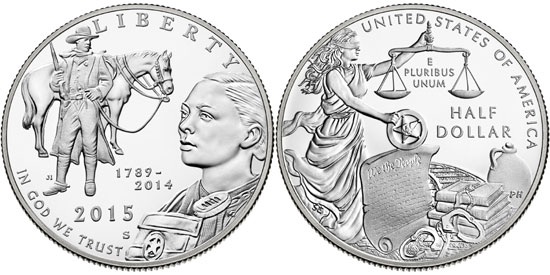 2015 US Marshals Half Dollar