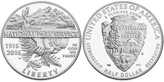 2016 National Park Service Half Dollar