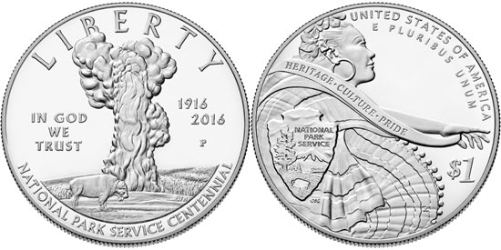 2016 National Park Service Silver Dollar