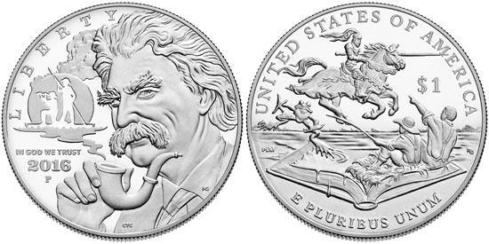 2016 Mark Twain Silver Dollar