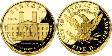2006 San Francisco Old Mint $5 Gold